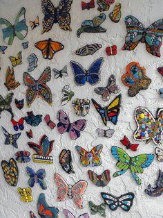 Mosaic butterfly cloud by Kraken Mosaics [Eve Lynch], via Flickr