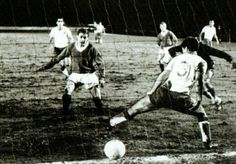 Rangers 2 Real Zaragoza 0 in March 1967 at Ibrox. A goal for Alex Willoughby in the Fairs Cup Quarter Final, 1st Leg.