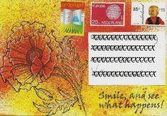 Mailart - altered envelope, made by Alie Hoogenboezem-de Vries