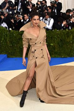 Priyanka Chopra wore a custom Ralph Lauren gown to the Met Gala 2017