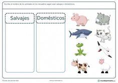 Ficha de animales para primaria Animal Crafts For Kids, Animals For Kids, Preschool Education, Preschool Activities, Funny Animal Videos, Funny Animals, School Labels, Worksheets For Kids, Spanish Worksheets