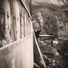 @insideoutproject on the school of @vikmuniz on the top of favela Vidigal in Rio De Janeiro today !  by jr