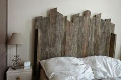 Each of these affordable DIY headboard ideas will wake up a tired bedroom with unconventional style.: Build a Rustic Wood Headboard