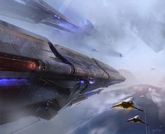 Air force by FotoN-3 | Digital Art / Drawings & Paintings / Sci-Fi | Futuristic spaceship spacecraft aircraft