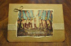 Sweet Handmade Western/Country theme bridal by HolidayPressDesigns, $30.00