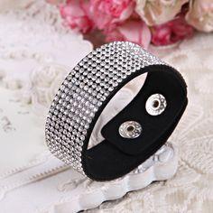 Kulit Gelang Kristal Bungkus Gelang Wanita Multilayer Braclet Panjang Gelang & Gelang Wanita Fashion Perhiasan