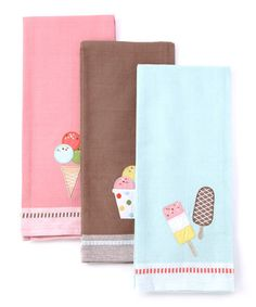 Take a look at this Ice Cream Dish Towel Set by Design Imports on #zulily today!
