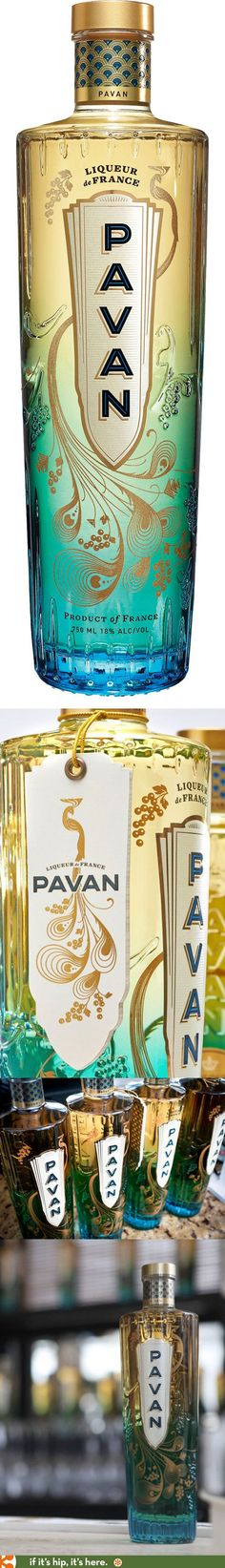 Pavan Liqueur's peacock-inspired bottle is one of the prettiest I've ever seen. PD