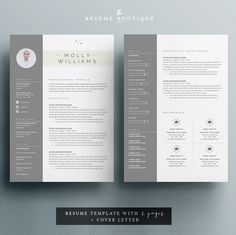 resume template and cover letter template for di theresumeboutique - Resume Cover Letter Template Word