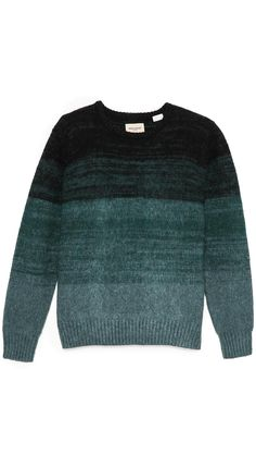 Levi's Made & Crafted Ombre Stripe Crew Neck Sweater Mens Fashion Sweaters, Men Sweater, Casual Outfits, Fashion Outfits, Designer Clothes For Men, Boys Sweaters, Sweater Weather, Clothing Items, Men's Knitwear