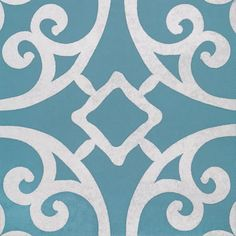 Artisan Casablanca Turquoise 200x200x7mm Porcelain Wall and Floor tile. I want tiles like this for my bathroom floor