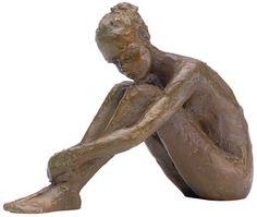 """Valerie Otte: Skulptur """"Innere Ruhe"""", Bronze"""