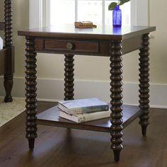 "spool leg nightstand/end table 26"" w x 26D x 28h"