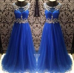Long Puffy Royal Blue Prom Dress With Rhinestones Real Photo Imported Party Dress Robe De Bal Longue Inexpensive Prom Dresses, Elegant Prom Dresses, Cheap Evening Dresses, Cheap Prom Dresses, Prom Party Dresses, Evening Gowns, Prom Gowns, Sexy Dresses, Ball Gowns