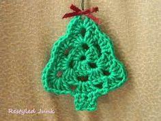 Crochet a Granny Tree Christmas Ornament