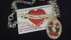 Guarda questo articolo nel mio negozio Etsy https://www.etsy.com/it/listing/253564069/collana-con-cammeo-donnina-sailor-tattoo