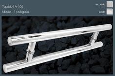 Puxadores para portas Pivotantes e vidro temperado
