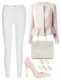 """""""Untitled #1533"""" by susannem ❤ liked on Polyvore featuring J Brand, RED Valentino, Topshop, Yves Saint Laurent, ASOS, women's clothing, women, female, woman and misses"""