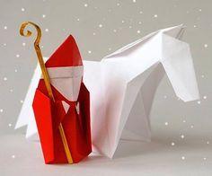 Origami Sinterklaas (Saint Nicolas) video tutorial from Leyla Torres. Instructions in English with Spanish subtitles. Christmas Origami, Christmas Crafts, Christmas Decorations, Retro Christmas, Christmas Christmas, Xmas, Cute Origami, Origami Easy, St Nicholas Day