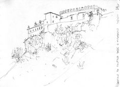 Landscape Sketches - Palmela Castle - by HBG