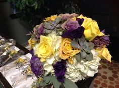 Purples, yellows, and succulents...