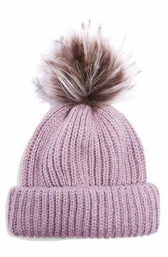 971ee981acf Topshop Faux Fur Pompom Beanie