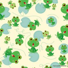 Fabric... Amusement Park Frogs by Camelot Cottons