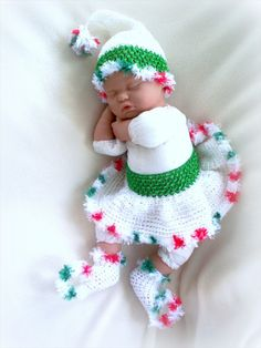 Santa's Little Helper newborn set ~ Oh my goodness this is to precious not to pin  ♥♥♥