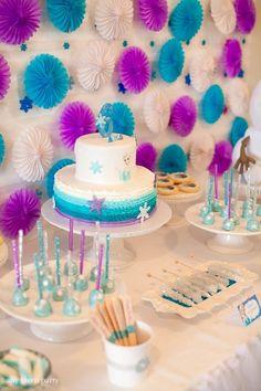 Sweet Table from a Frozen Birthday Party via Kara's Party Ideas | KarasPartyIdeas.com (18)