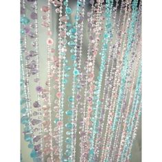 3' x 6' Foot Beaded Curtain Panels - Icicle Beaded Curtains - Multi Color Pastel Crystal Ice [ZPC515XXZ Buy Beaded Curtain] : Wholesale Wedding Supplies, Discount Wedding Favors, Party Favors, and Bulk Event Supplies