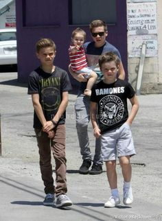 Brooklyn Beckham, his brothers, Romeo, Cruz & his sister Harper