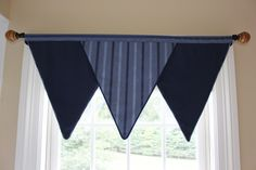 Triangle Valance for Boys Room