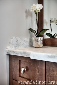 marble counter, more rustic base