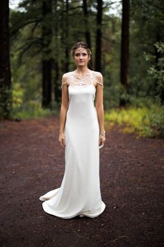 Wedding Dress with Crystals and Goddess Style Low by SheenBridal