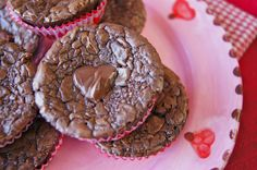 Nutella Brownies Full of Heart! {Gluten-Free}--WHAT!?!