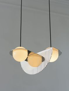 New Laurent lighting collection from Montreal's Lambert & Fils is art deco meets Bauhaus. Come see this stunning new collection of suspension lights Luxury Lighting, Modern Lighting, Lighting Design, Deco Luminaire, Luminaire Design, Industrial Lighting, Pendant Lighting, Pendant Lamps, Light Pendant