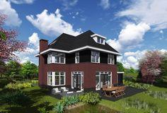 Schets van de maand Oktober 2015 Net even anders uitgevoerde jaren '30 villa. De speelse vorm maakt dit ontwerp ook geschikt voor kleinere of vierkante...