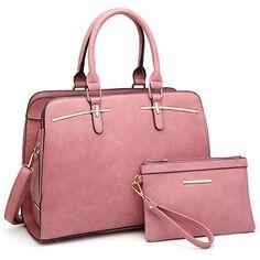 Dasein Women Satchel Handbags Shoulder Purses Totes Top Handle Work Bags With Matching Wallet Satchel Purse, Satchel Handbags, Leather Satchel, Purses And Handbags, Cheap Handbags, Women's Handbags, Work Bags, Big Bags, Shoulder Purse