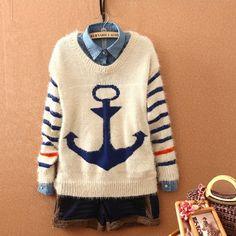 2Cute Anchor Sweater for Women