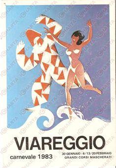 1983 CARNEVALE DI VIAREGGIO Cartolina illustrata FG NV