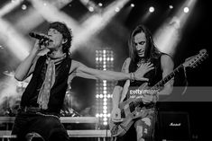 AVAILABLE. Gary Cherone and Nuno Bettencourt of Extreme perform live on stage at the O2 Brixton Academy on December 20, 2017 in London, England.