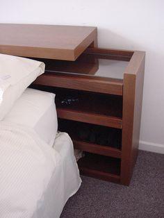 Farmhouse Bedding Headboard - - Bedding Design Minimalist - Bedding Storage Minimalist - - Small Bedding With Kids Bed Headboard Storage, Headboards For Beds, Bed Storage, Bedroom Storage, Bedding Storage, Headboard Ideas, Bedroom Bed Design, Home Bedroom, Bedroom Decor