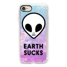 Alien Grunge 90s Aesthetic Colorful Cute Funny Space Galaxy - iPhone 7... ($40) ❤ liked on Polyvore featuring accessories, tech accessories, iphone case, apple iphone cases, iphone hard case, galaxy iphone case, iphone cases and iphone cover case