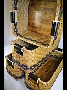Custom order hand woven baskets.
