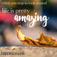 Life wants to amaze you.  Whats one thing youre doing to be #amazing right back?  #happinessink #happiness