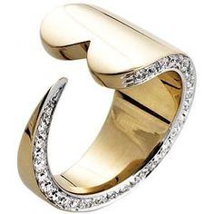 www.fashion2dream.com Pianegonda Gold Lovesick Wrap Diamond Ring