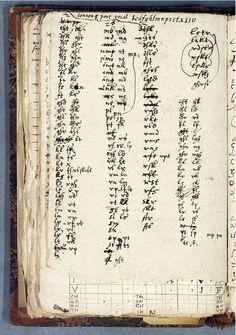 Burerunor. En kladd, om ett nytt Rune-språk [MS] sidan 1 faksimil | Litteraturbanken