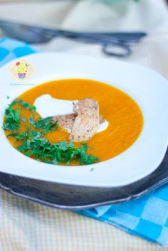 krem z dyni i marchewki Ethnic Recipes, Food, Hoods, Meals