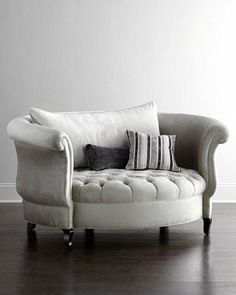 Harlow Cuddle Chair by Haute House at Horchow.this cuddle chair is adorably sexy. LOVE THIS for the sitting room. Aka the living room. Sofa Design, Interior Design, Room Interior, Design Design, Design Ideas, Furniture Decor, Furniture Design, Bedroom Furniture, Reclaimed Furniture