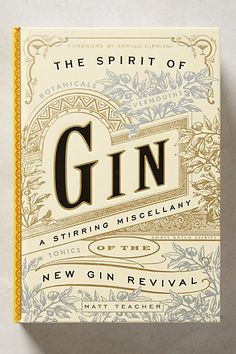 The Spirit of Gin - anthropologie.com #anthroregistry